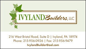Business Card Design for Ivyland Builders by Dynamic Digital Advertising