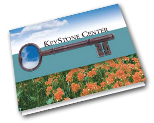 Thank You Card for KeyStone Center designed by Dynamic Digital Advertising